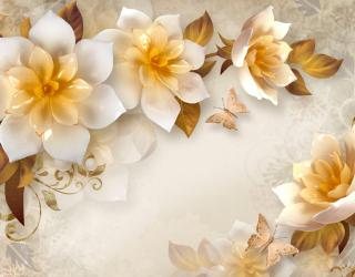Фотообои Стереоскопические цветы 20072
