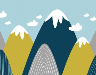 Фотообои Векторные горы 24060