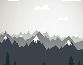 Фотообои Векторные горы в детскую 24075