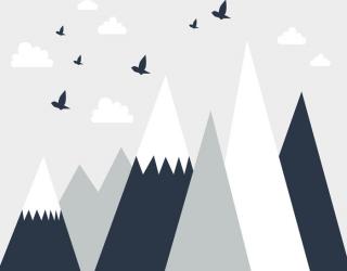 Фотообои Векторные горы 24076