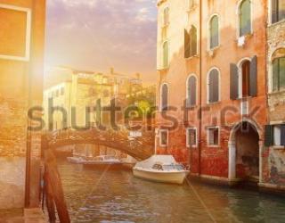 Фотообои Венеция, вода, мостик 455318086