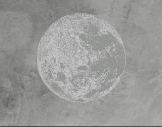 Фотообои Серая луна минимализм 24047