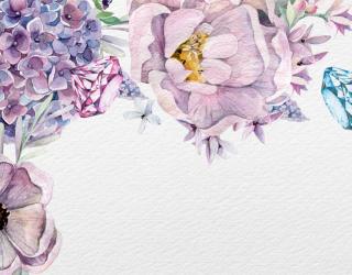 Фотообои Акварельные цветы 26167