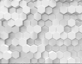 Фотообои Объёмные шестиугольники 28879