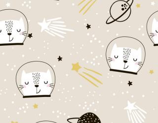 Фотообои Космические коты 22961