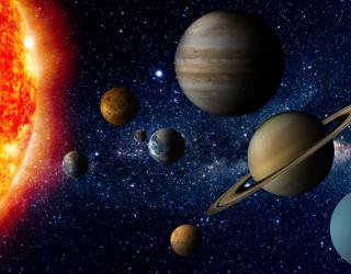 Фотообои Планеты в космосе 22675