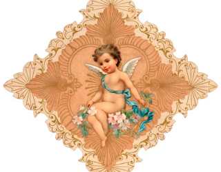 Фотообои Ангел с цветами 7191