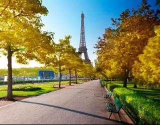 Фотообои Париж осенью 13314