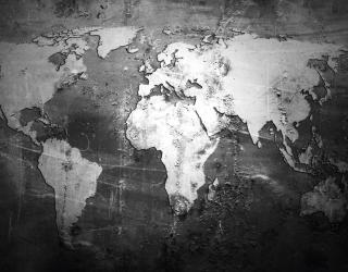 Фотообои Карта на чёрном 28935