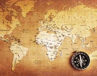 Фотообои Винтажная карта 20214