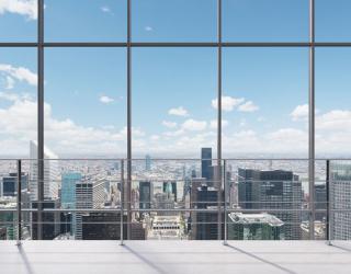 Фотообои Вид из окна на город 22684
