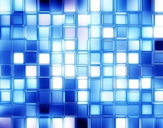 Фотообои Голубые стеклянные квадратики 20273