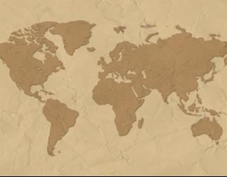 Фотообои Стилизация континентальной карты 12511