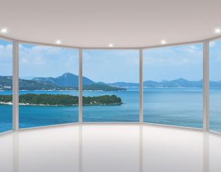 Фотообои Вид из окна на остров 15550