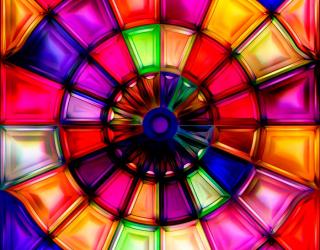 3д фотообои Разноцветные фигуры 5769
