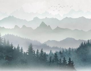 Фотообои Горы и лес 29204