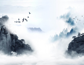 Фотообои Абстрактные горы  29071