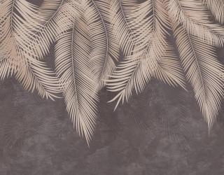 Фотообои Коричневые листья с потолка 22119