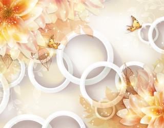 Фотообои Жёлтые хризантемы 3d 18740
