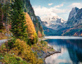 Фотообои Озеро в горах 23591
