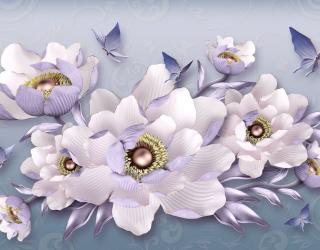 Фотошпалери 3д квіти 23756