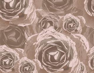 Фотообои Коричневые цветы векторные 12707