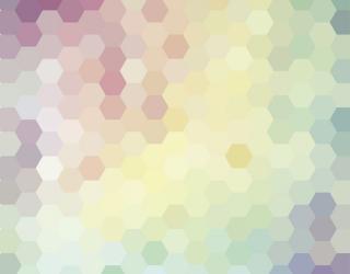 Фотообои Разноцветные шестиугольники 13213