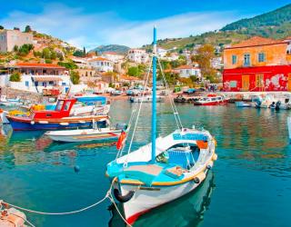 Фотообои Лодки на Греческих островах 5105
