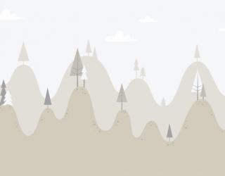 Фотообои Бежевые горы с ёлочками 24071