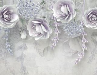 3д фотообои 3д цветы 22067