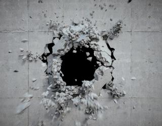 Фотообои Разбитая каменная стена 21039