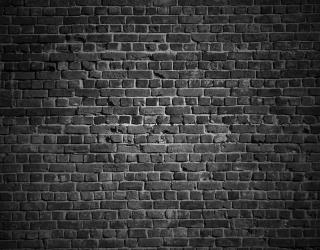 Фотообои Черная стена с кирпича 20240