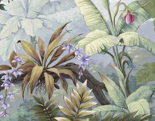 Фотообои Тропические листья дикой природы 22457