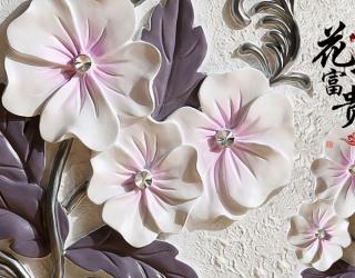 Фотообои Барельефные керамические цветы 22915