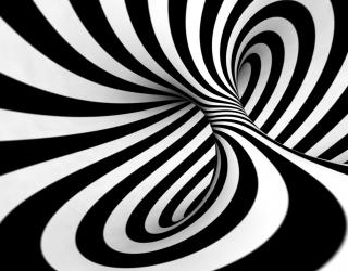3д фотообои Чернобелая абстракция 6429