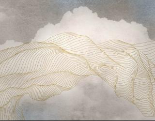 Фотообои Небо и абстракция в стиле line art 28769