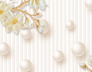 Фотообои Керамические цветы и круги 20209
