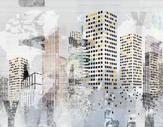 Фотообои Город рисованный 23782