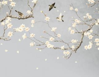 Фотообои Ветки магнолии в японском стиле 26667