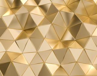 Фотообои 3д золотые треугольники 26514