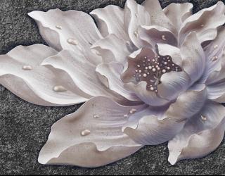 Фотообои Керамический цветок барельеф 22441