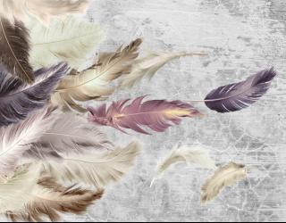 Фотообои Фиолетовые перья 29245