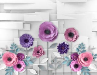 Фотообои 3Д бумажные цветы 19954