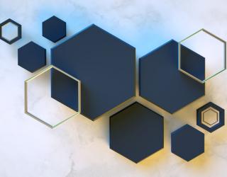 Фотообои Черные шестиугольники 22205