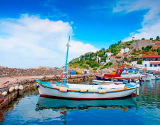 Фотообои Лодки на Греческих островах 5067