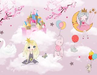 Фотообои Розовые принцессы 24092