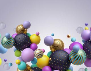 Фотообои Разноцветные 3д шары 26054