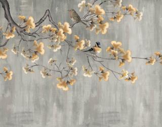Фотообои Гинкго и птицы 23063