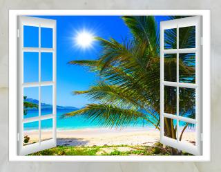 Фотообои Вид из окна на море 20244