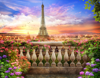 Фотообои Фреска с парижем 23696